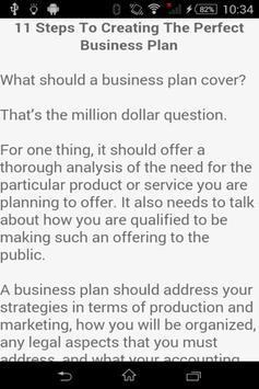 Business Plan Template apk screenshot