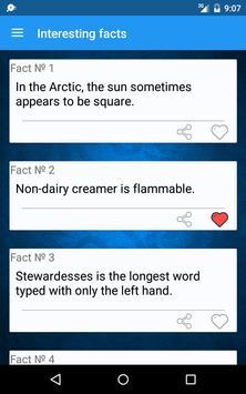 Useless facts apk screenshot