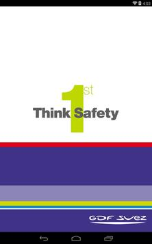 GDF SUEZ Think Safety 1st poster