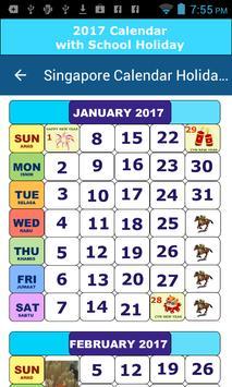 Singapore Calendar Holiday poster