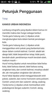 Kamus Urban Indonesia apk screenshot