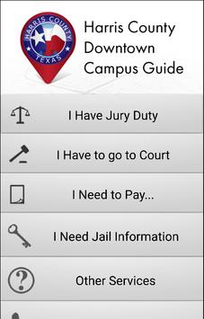 Harris County Campus Guide poster
