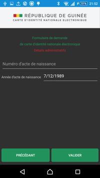 CNIE Guinée apk screenshot