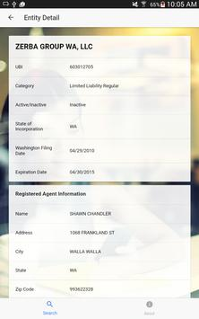 WA State Business Search apk screenshot