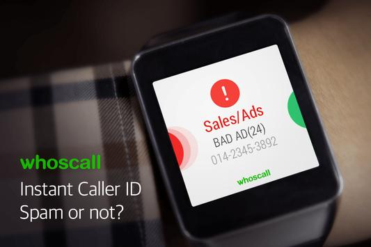 Whoscall Wear - Android wear poster