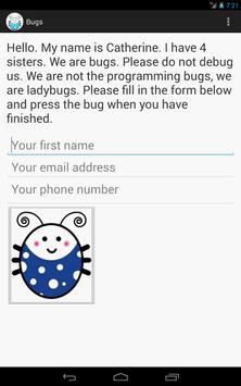 Bugs apk screenshot