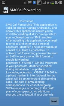 SMS Call Forwarding F apk screenshot