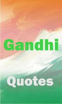 Gandhi Quotes poster