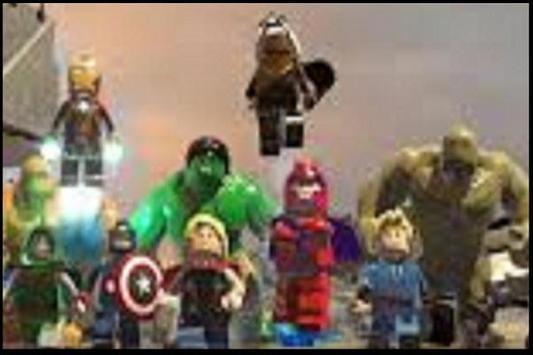 Tips LEGO MARVEL superhero poster