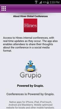 Hines Global Conferences apk screenshot
