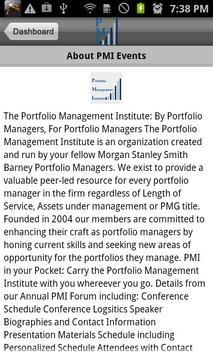 PMI Events apk screenshot