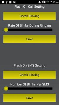 Flash Alerts on Call and SMS poster