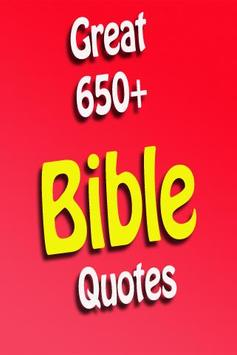Greatest 650 Bible Quotes poster