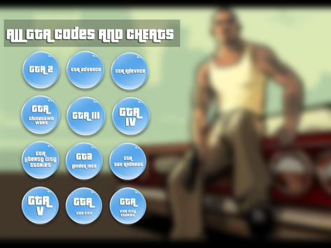 cheats for G.T.A guide poster