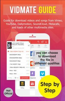 Guide for Vidmate vdo download poster