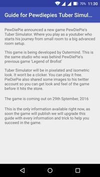 Guide for PDP Tuber Simulator apk screenshot