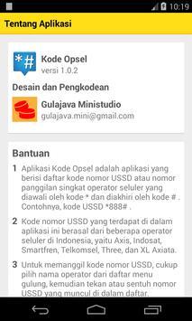 Kode Opsel apk screenshot