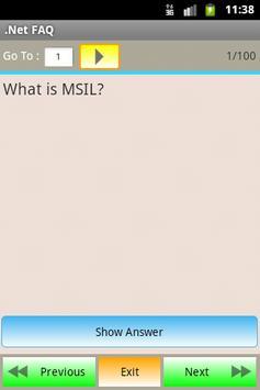 .Net FAQ apk screenshot
