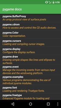 Docs for pygame poster