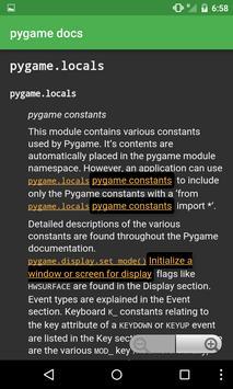 Docs for pygame apk screenshot