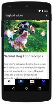 Natural Dog Food Recipes poster