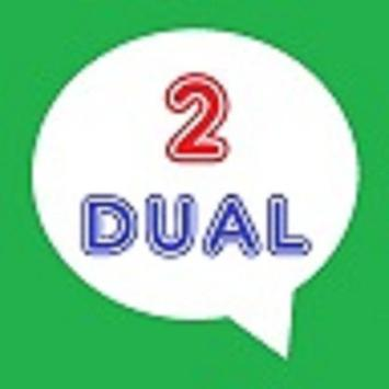 Dual accounts for Whatsapp poster