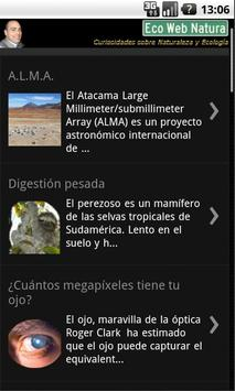 Eco Web Natura poster