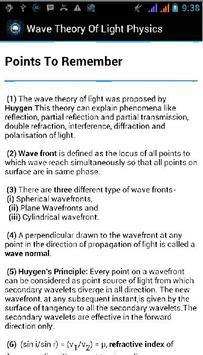 Wave Theory Of Light Physics apk screenshot
