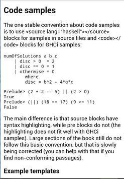 Books Haskell apk screenshot
