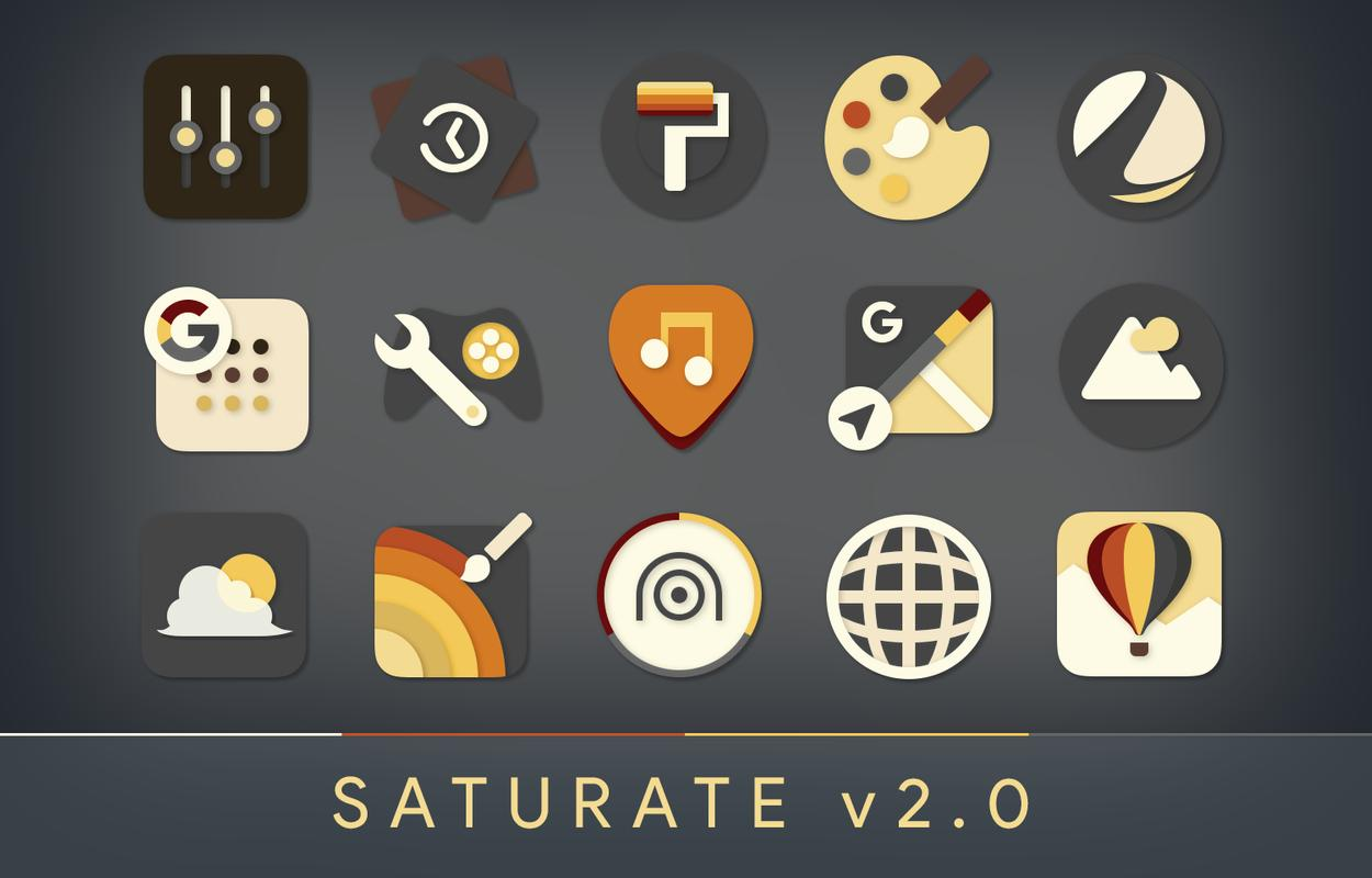 Saturate - Free Icon Pack APK Download