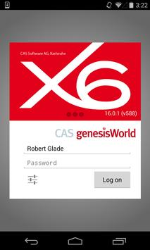 CAS genesisWorld x6 poster