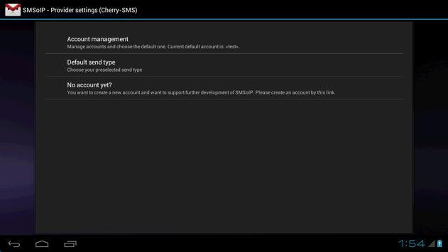 SMSoIP Cherry-SMS Plugin apk screenshot
