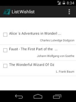 Allan's Booklist apk screenshot