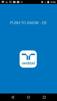 Push to know DE poster