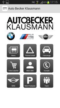 Auto Becker Klausmann poster
