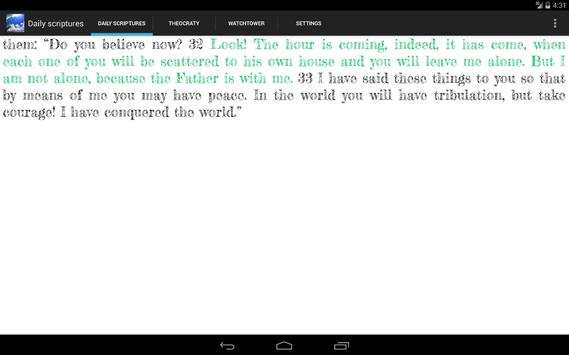 Daily Scriptures T. Watchtower apk screenshot