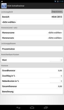 HOAI Honorar-Schnell-Rechner apk screenshot