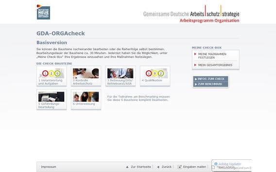 GDA-ORGAcheck apk screenshot