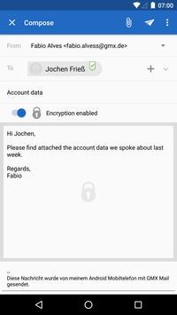 GMX Mail apk screenshot