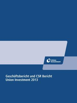 Union Investment Bericht 2013 poster