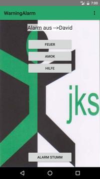 Warning Alarm JKSV poster