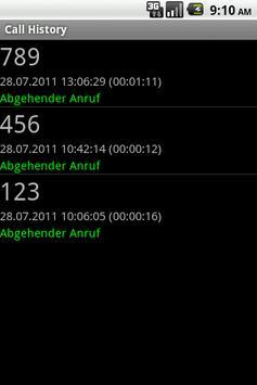 aCallHistory apk screenshot