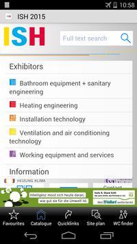 ISH 2015 - off. fair catalogue apk screenshot