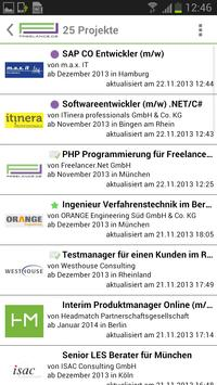 Freelance.de apk screenshot