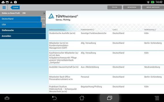 TÜV Rheinland - Your Job apk screenshot