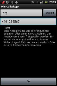 Mini Call Widget apk screenshot