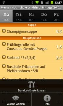 Mensa FH Landshut apk screenshot
