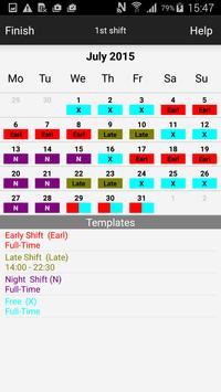 Roster-Calendar apk screenshot