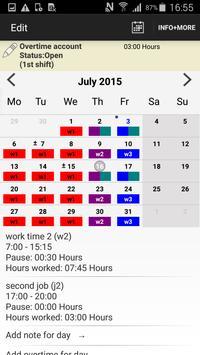 Worktimes - employee apk screenshot