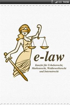 Kanzlei e-law poster